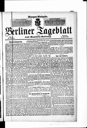 Berliner Tageblatt und Handels-Zeitung vom 11.06.1907