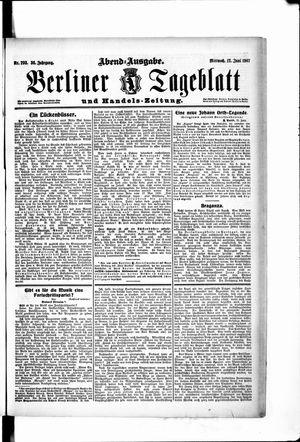 Berliner Tageblatt und Handels-Zeitung vom 12.06.1907