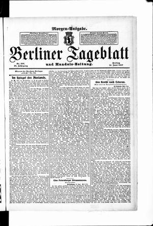 Berliner Tageblatt und Handels-Zeitung vom 14.06.1907