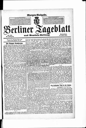 Berliner Tageblatt und Handels-Zeitung vom 15.06.1907