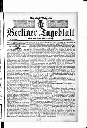 Berliner Tageblatt und Handels-Zeitung vom 16.06.1907