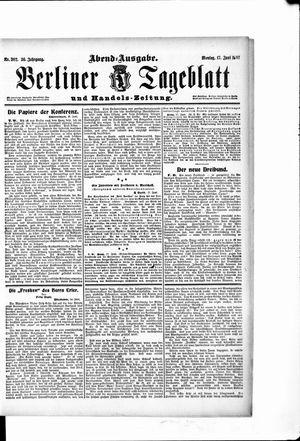 Berliner Tageblatt und Handels-Zeitung vom 17.06.1907