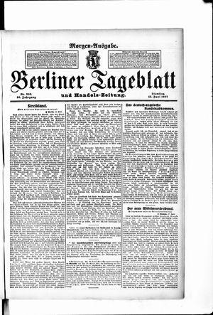 Berliner Tageblatt und Handels-Zeitung vom 18.06.1907