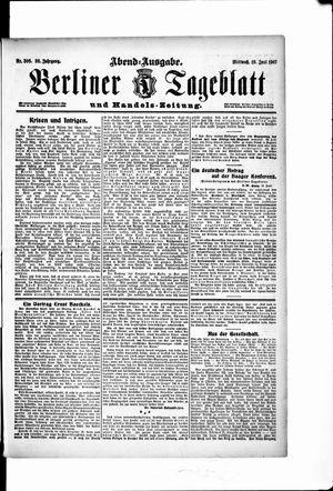 Berliner Tageblatt und Handels-Zeitung vom 19.06.1907
