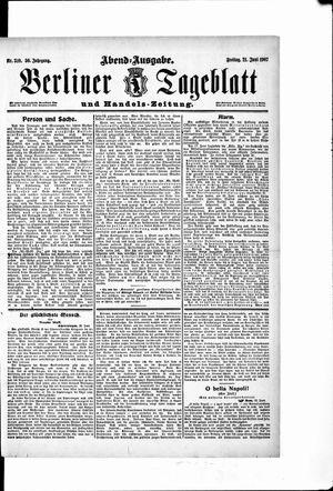 Berliner Tageblatt und Handels-Zeitung vom 21.06.1907