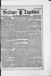 Berliner Tageblatt und Handels-Zeitung (18.10.1907)