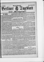 Berliner Tageblatt und Handels-Zeitung (15.11.1909)