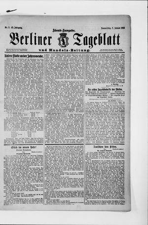 Berliner Tageblatt und Handels-Zeitung vom 02.01.1913