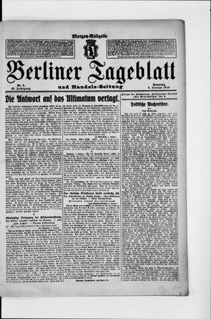 Berliner Tageblatt und Handels-Zeitung vom 05.01.1913