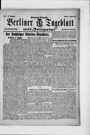 Berliner Tageblatt und Handels-Zeitung vom 06.01.1913