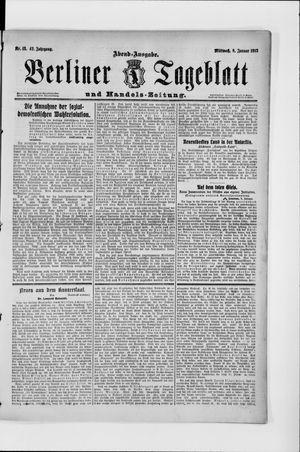 Berliner Tageblatt und Handels-Zeitung vom 08.01.1913