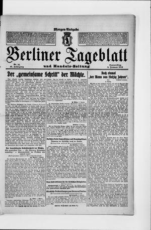 Berliner Tageblatt und Handels-Zeitung vom 09.01.1913