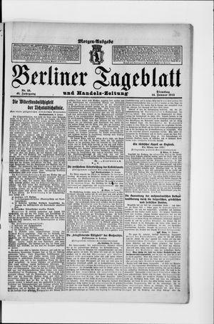 Berliner Tageblatt und Handels-Zeitung vom 14.01.1913
