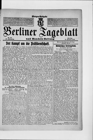 Berliner Tageblatt und Handels-Zeitung vom 17.01.1913