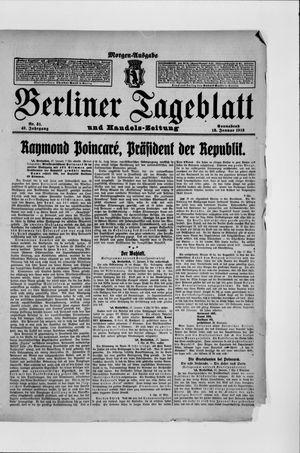 Berliner Tageblatt und Handels-Zeitung vom 18.01.1913