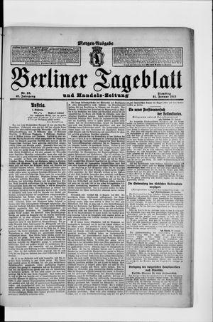 Berliner Tageblatt und Handels-Zeitung vom 21.01.1913