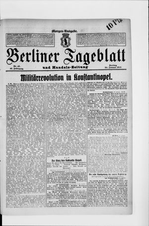 Berliner Tageblatt und Handels-Zeitung vom 24.01.1913