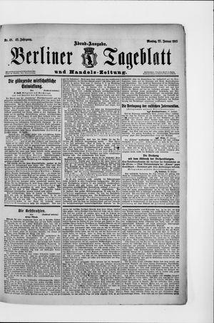 Berliner Tageblatt und Handels-Zeitung vom 27.01.1913