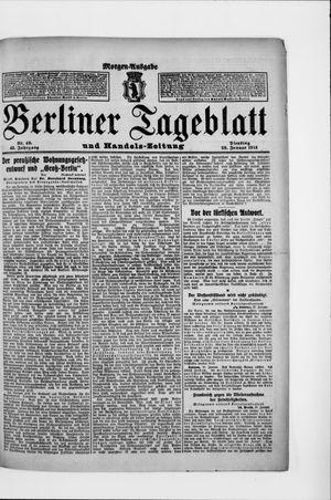 Berliner Tageblatt und Handels-Zeitung vom 28.01.1913