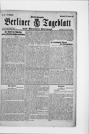 Berliner Tageblatt und Handels-Zeitung vom 29.01.1913