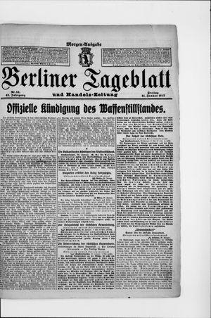 Berliner Tageblatt und Handels-Zeitung on Jan 31, 1913