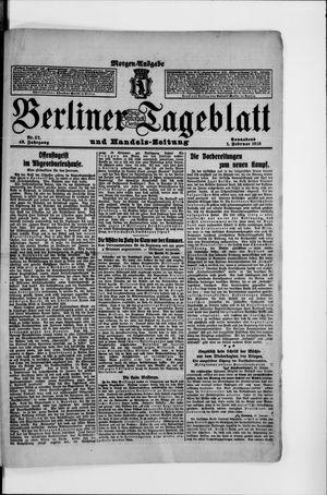 Berliner Tageblatt und Handels-Zeitung vom 01.02.1913