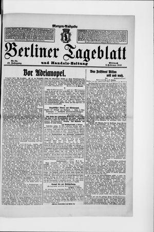Berliner Tageblatt und Handels-Zeitung vom 05.02.1913