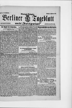 Berliner Tageblatt und Handels-Zeitung vom 10.02.1913