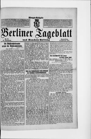 Berliner Tageblatt und Handels-Zeitung vom 13.02.1913