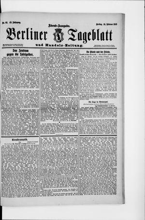 Berliner Tageblatt und Handels-Zeitung vom 14.02.1913