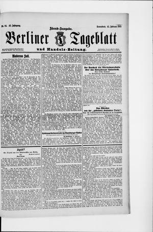 Berliner Tageblatt und Handels-Zeitung vom 15.02.1913