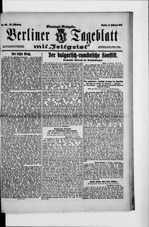 Berliner Tageblatt und Handels-Zeitung vom 17.02.1913