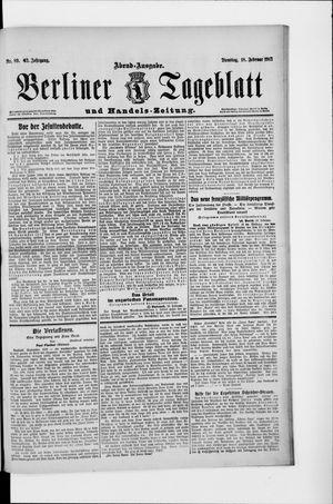 Berliner Tageblatt und Handels-Zeitung vom 18.02.1913