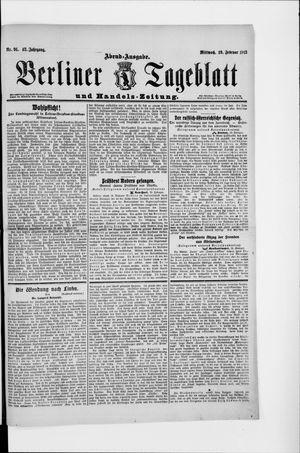 Berliner Tageblatt und Handels-Zeitung vom 19.02.1913