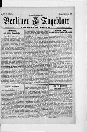Berliner Tageblatt und Handels-Zeitung vom 24.02.1913