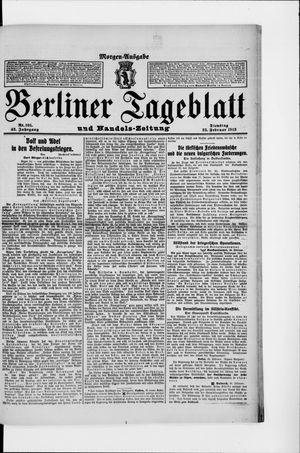 Berliner Tageblatt und Handels-Zeitung vom 25.02.1913