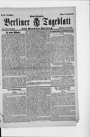 Berliner Tageblatt und Handels-Zeitung vom 28.02.1913