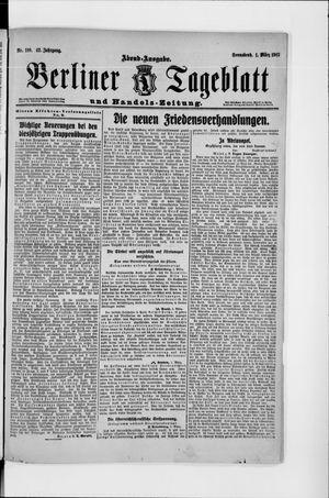 Berliner Tageblatt und Handels-Zeitung vom 01.03.1913