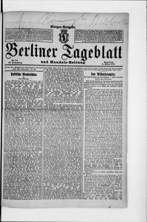 Berliner Tageblatt und Handels-Zeitung vom 02.03.1913