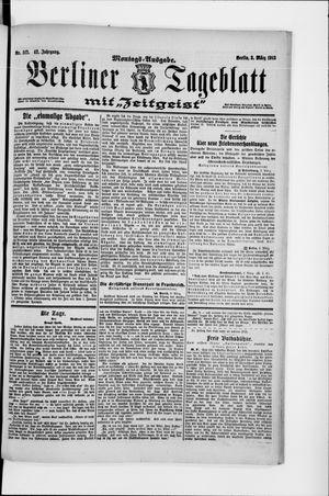 Berliner Tageblatt und Handels-Zeitung vom 03.03.1913