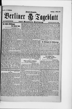 Berliner Tageblatt und Handels-Zeitung vom 04.03.1913