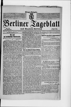 Berliner Tageblatt und Handels-Zeitung vom 06.03.1913