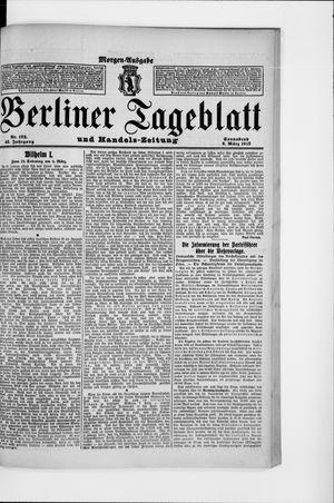 Berliner Tageblatt und Handels-Zeitung vom 08.03.1913