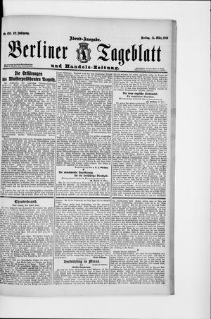 Berliner Tageblatt und Handels-Zeitung vom 14.03.1913