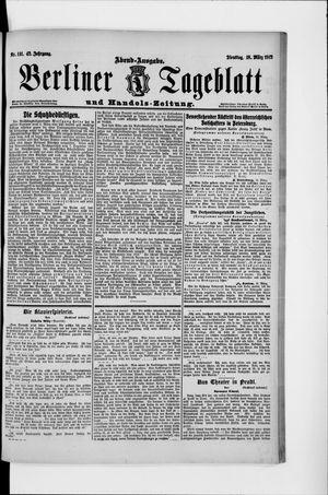 Berliner Tageblatt und Handels-Zeitung vom 18.03.1913