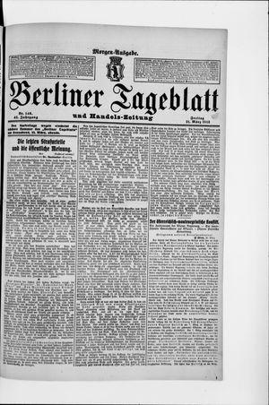 Berliner Tageblatt und Handels-Zeitung vom 21.03.1913