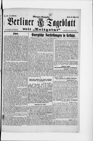 Berliner Tageblatt und Handels-Zeitung vom 25.03.1913