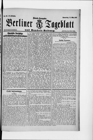 Berliner Tageblatt und Handels-Zeitung vom 27.03.1913
