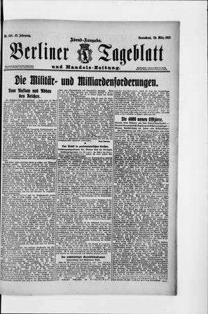 Berliner Tageblatt und Handels-Zeitung vom 29.03.1913
