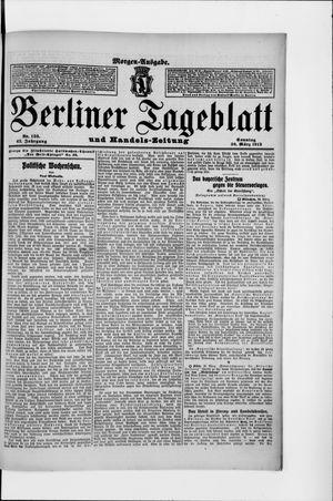 Berliner Tageblatt und Handels-Zeitung vom 30.03.1913